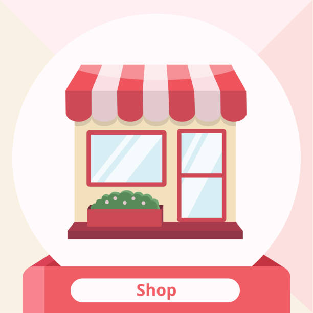 small business store retail shop - small business owner stock illustrations