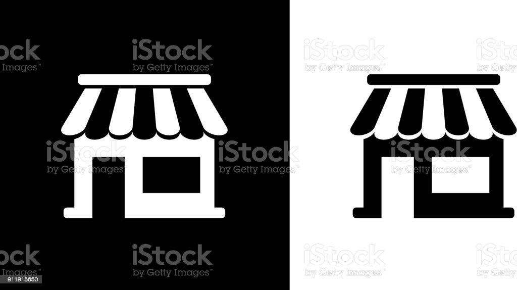 Kleinunternehmen Schaufenster Kiosk. – Vektorgrafik