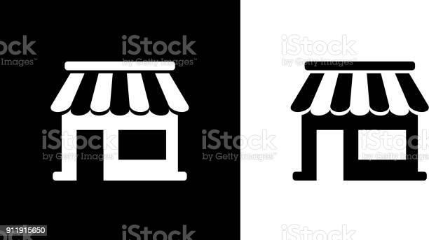 Small Business Storefront Kiosk - Arte vetorial de stock e mais imagens de Comida