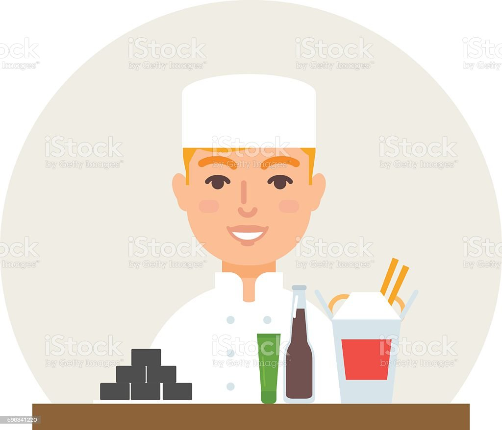 Small business - sushi bar vector illustration flat style royalty-free small business sushi bar vector illustration flat style stock vector art & more images of backgrounds
