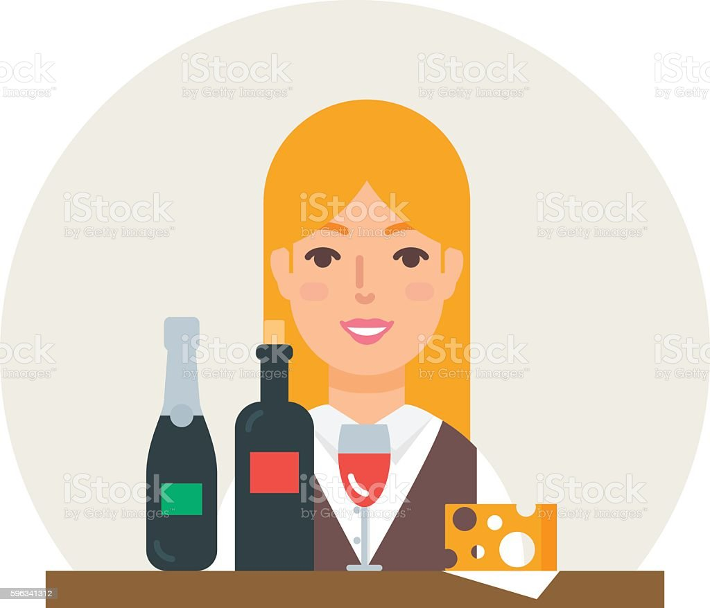 Small business - wine shop vector illustration flat style royalty-free small business wine shop vector illustration flat style stock vector art & more images of adult
