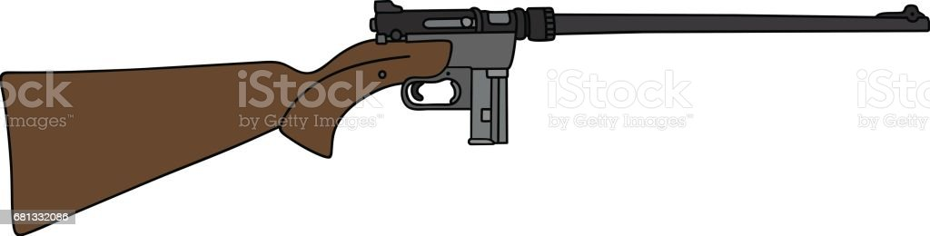 Small caliber rifle royalty-free small caliber rifle stock vector art & more images of arm