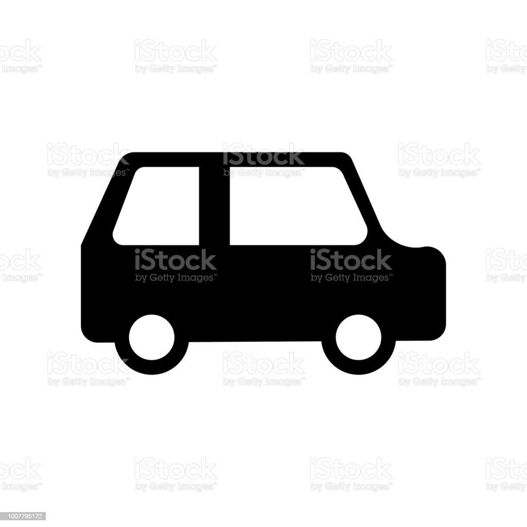 Small Car Icon Vector Icon Simple Element Illustration Small Car