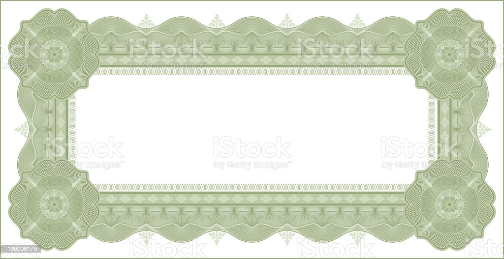 Small Certificate - Diploma (GREEN VARIANT) vector art illustration