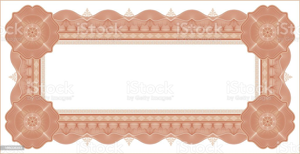 Small Certificate - Diploma (RED VARIANT) vector art illustration