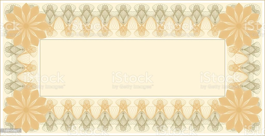 Small Certificate Template With Delicate Line Swirl Border Stock ...