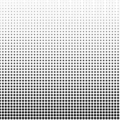 Small circular shape pattern, with vertical size gradient.