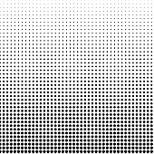 istock Small circular shape pattern, with vertical size gradient. 1256380429