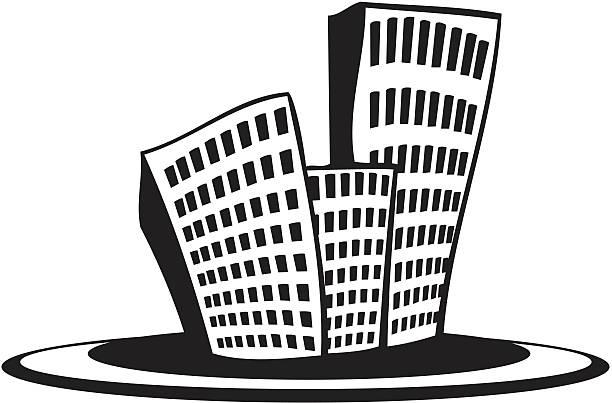 Kleine Stadt – Vektorgrafik