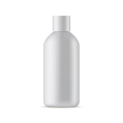 Small cosmetic bottle mockup isolated on white background