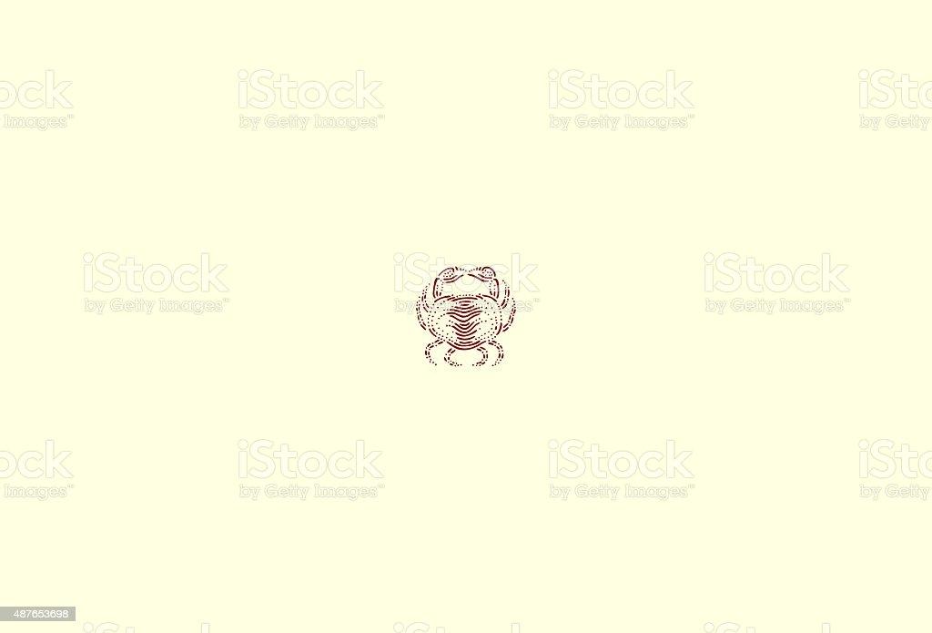 Small crab vector art illustration