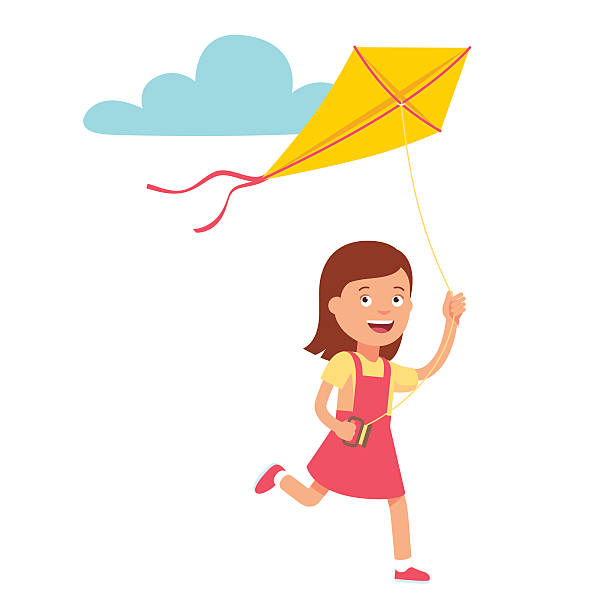 royalty free kite flying clip art vector images