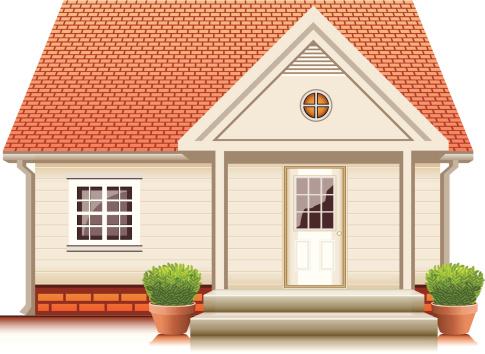 Small cute house - VECTOR