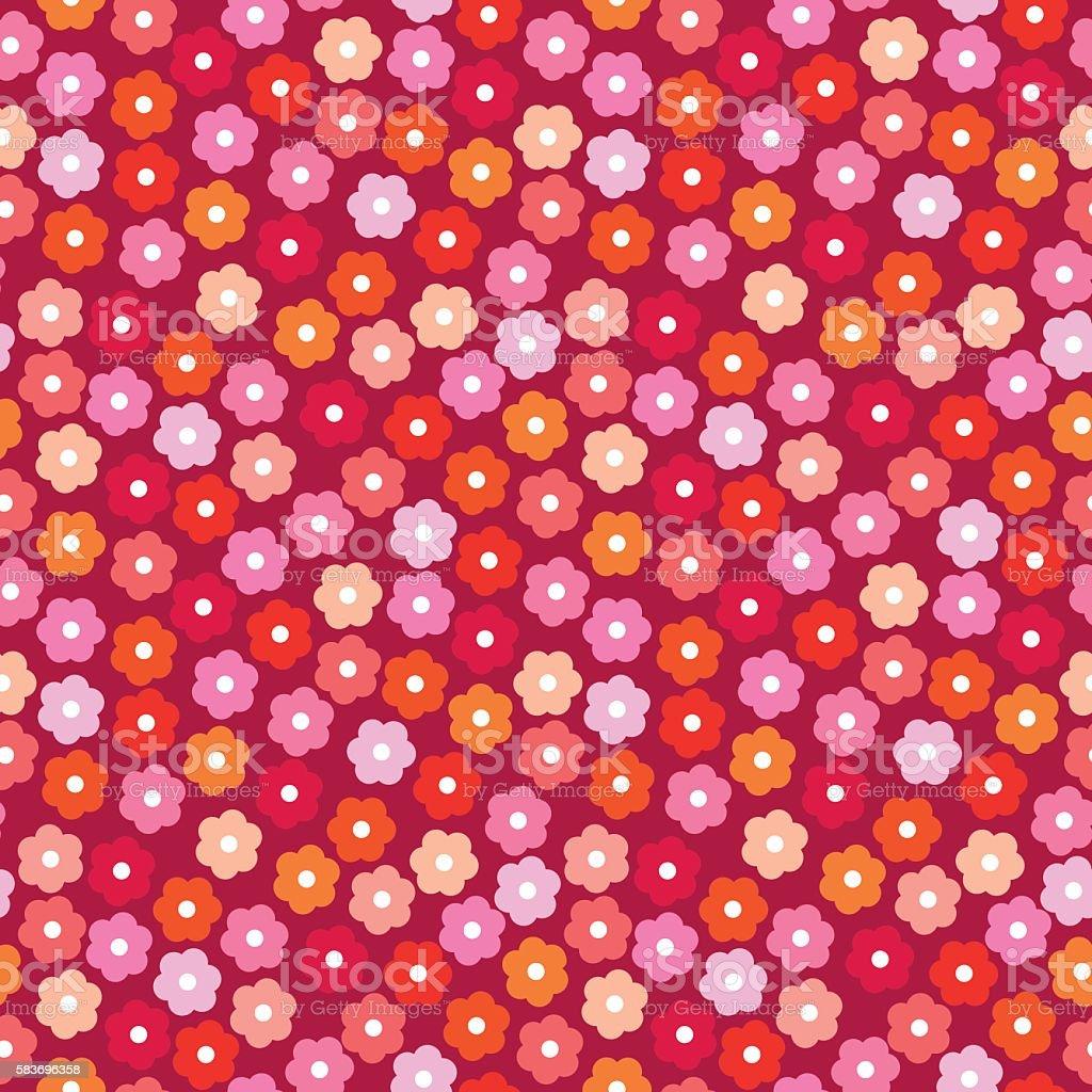 Small daisies background vector art illustration