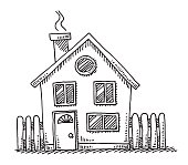 Small Detached House Drawing