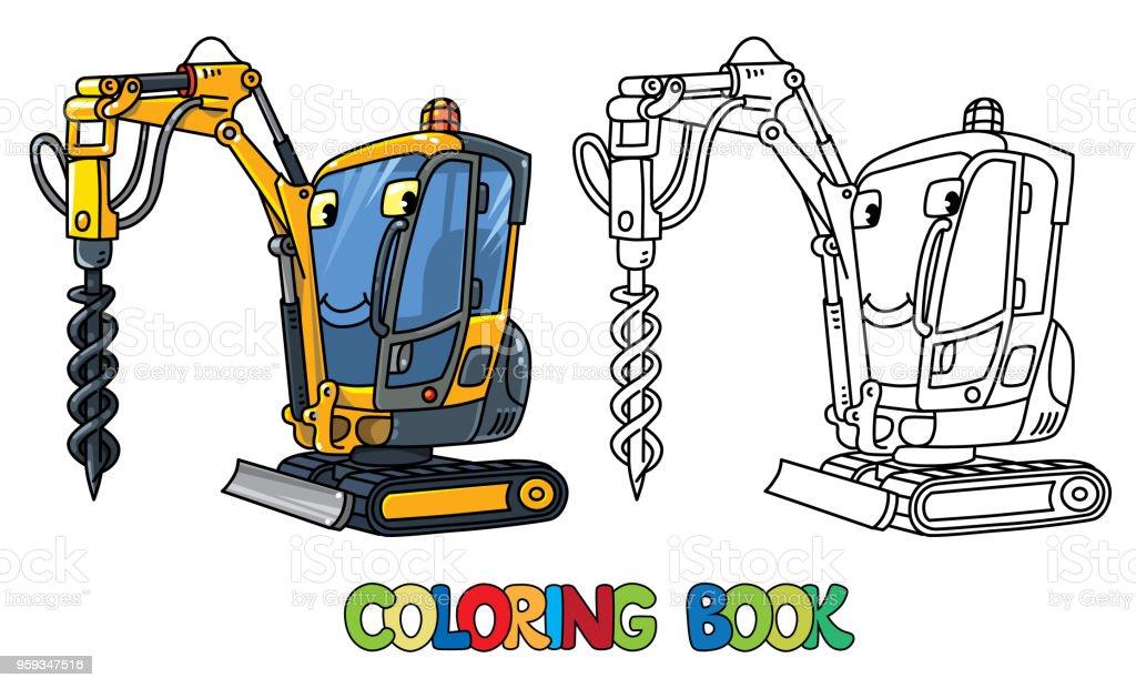 Ilustración de Pequeño Carro De Perforación Coche Con Los Ojos Libro ...