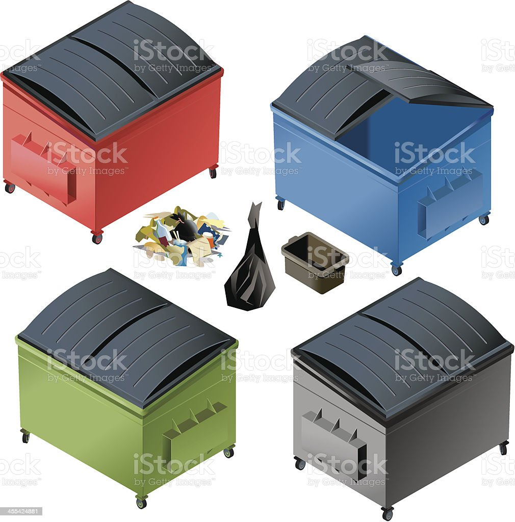 Small Dumpsters royalty-free stock vector art