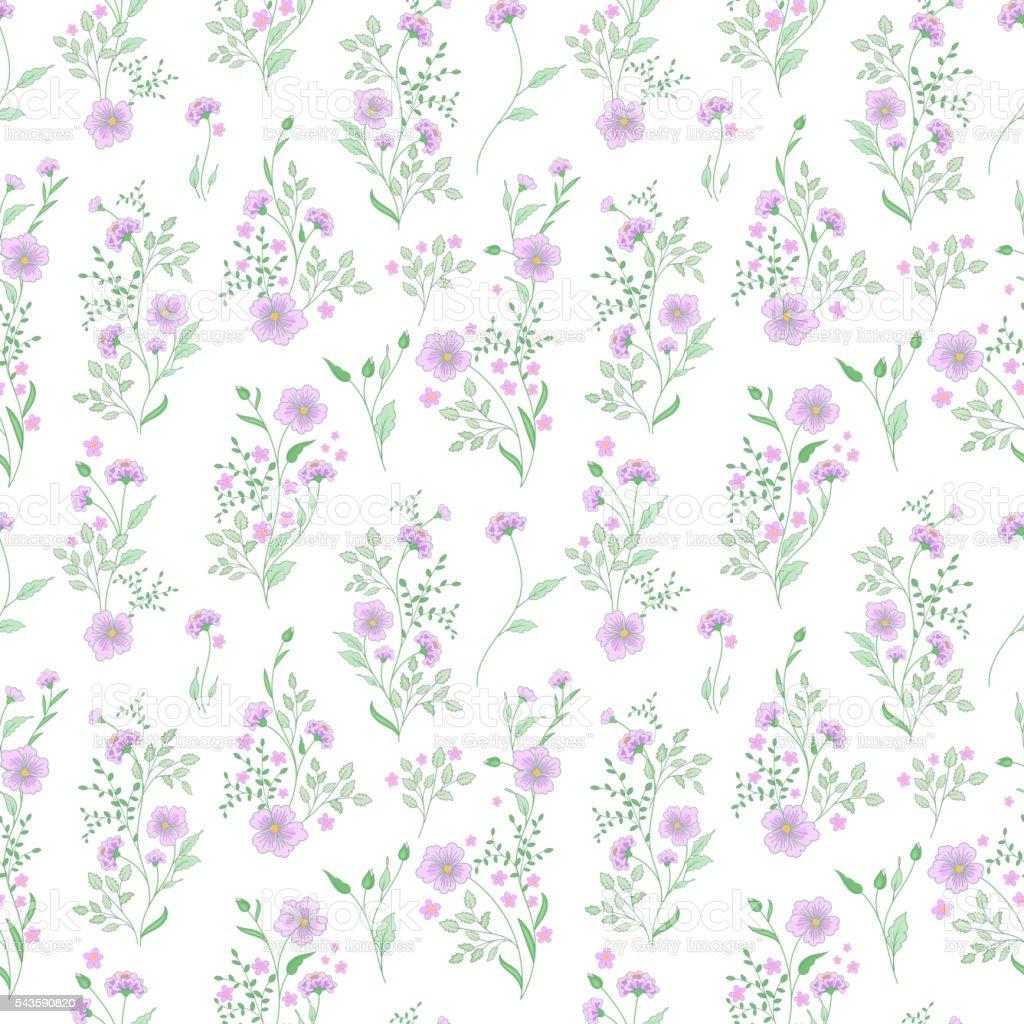 Ilustración de Pequeña Flor Patrón Fondo Transparente Floral De La ...