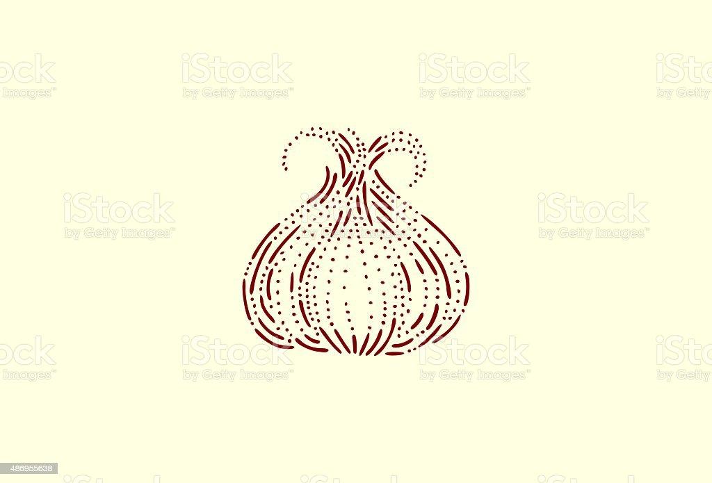 Small garlic vector art illustration