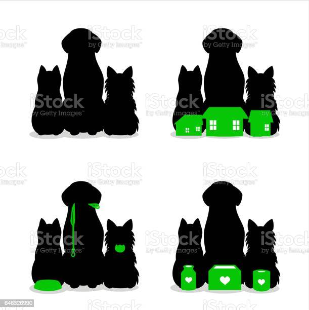 Small group of dogs and cat silhouette vector id646326990?b=1&k=6&m=646326990&s=612x612&h=3xrdc57c38jacvoo1xw1ilz tkah5vveppvhjoxozku=