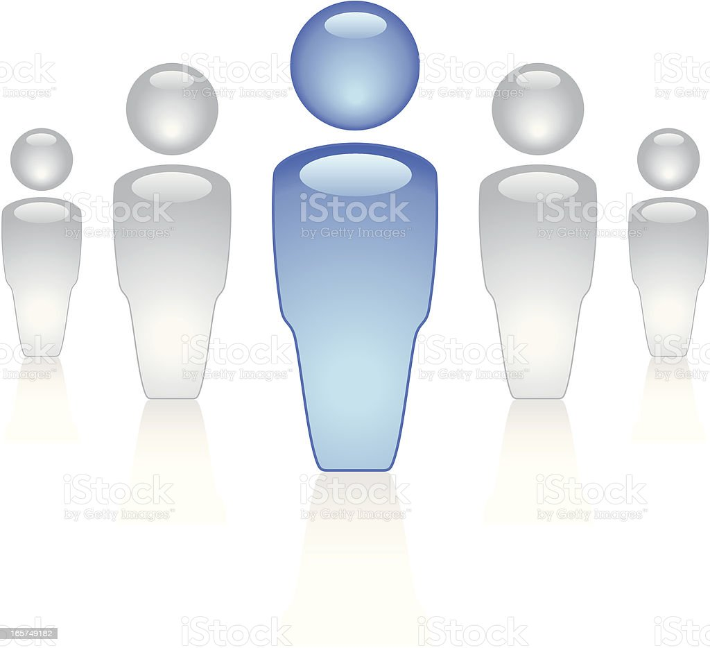 Small Group with Leader royalty-free stock vector art