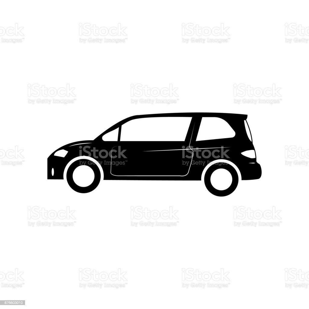 Kleinen Fließhecksymbol Auto Art Einfaches Symbol Transport ...