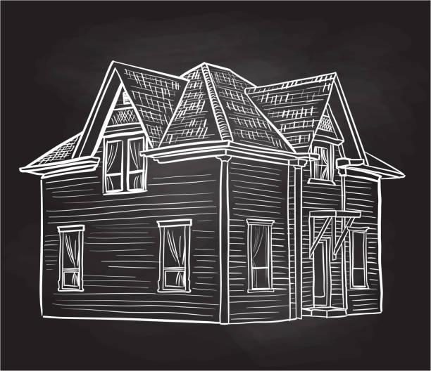 Small Heritage House Tafel – Vektorgrafik