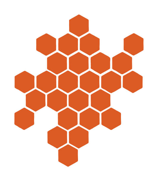 Small Honeycomb Pattern Small Honeycomb Pattern hexagon stock illustrations