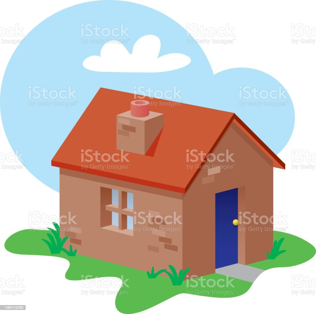 Small House royalty-free stock vector art
