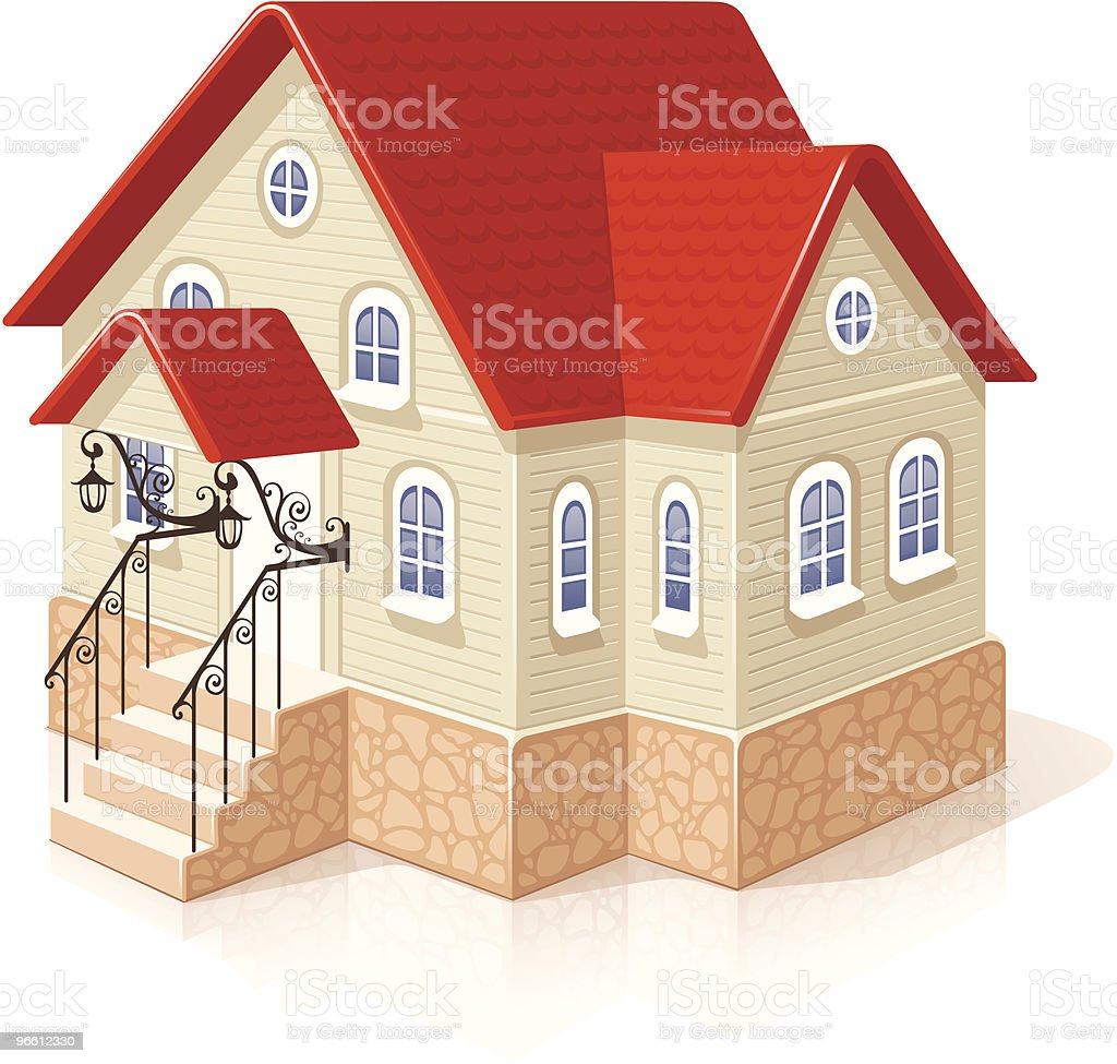 Small house - Royalty-free Architectuur vectorkunst