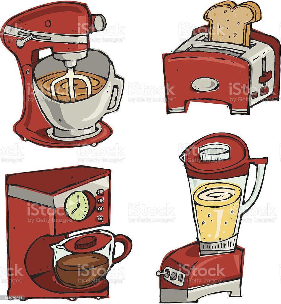 Kleine Küche Küchengeräten Stock Vektor Art und mehr Bilder von ...