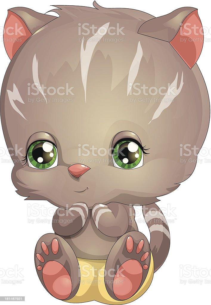 small kitten royalty-free stock vector art