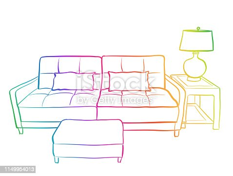Small Living Room Couch Rainbow