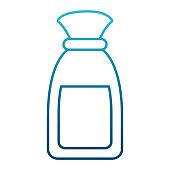 Small plastic bottle icon vector illustration graphic design