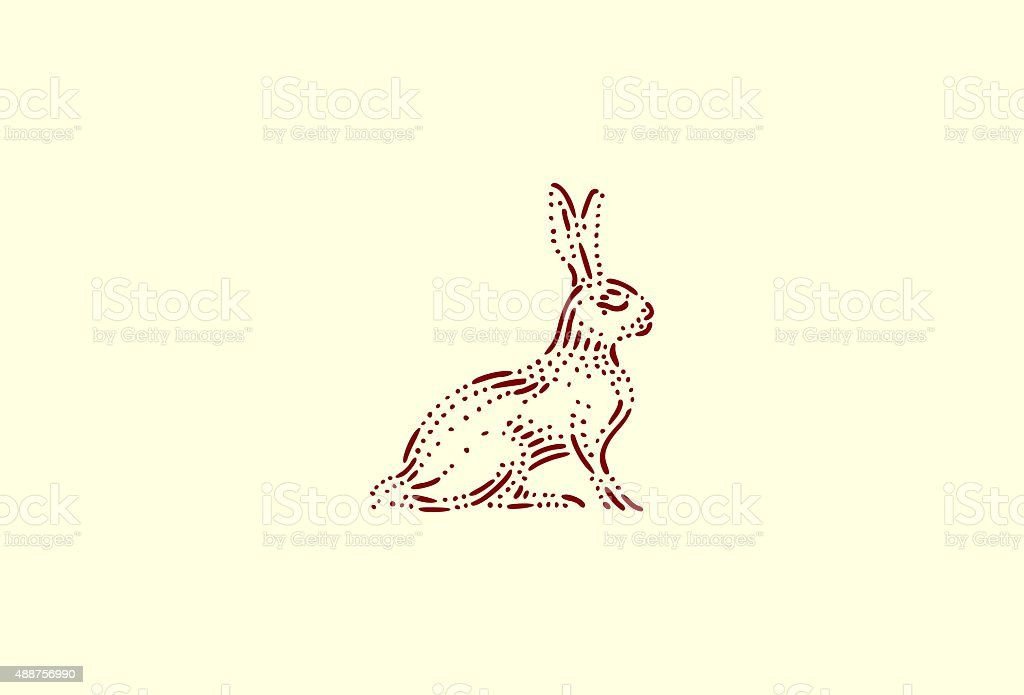 Small rabbit vector art illustration