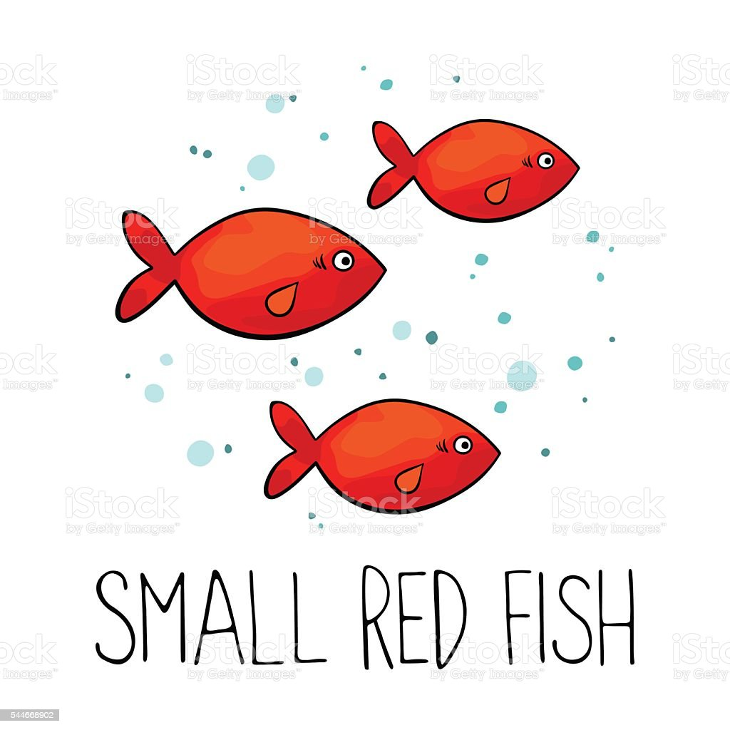 Small Red Fish Made In Vector Stock Vector Art & More Images of ...