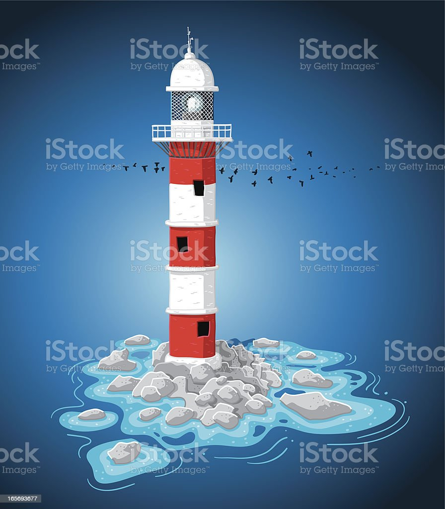 Small Reef Lighthouse royalty-free stock vector art