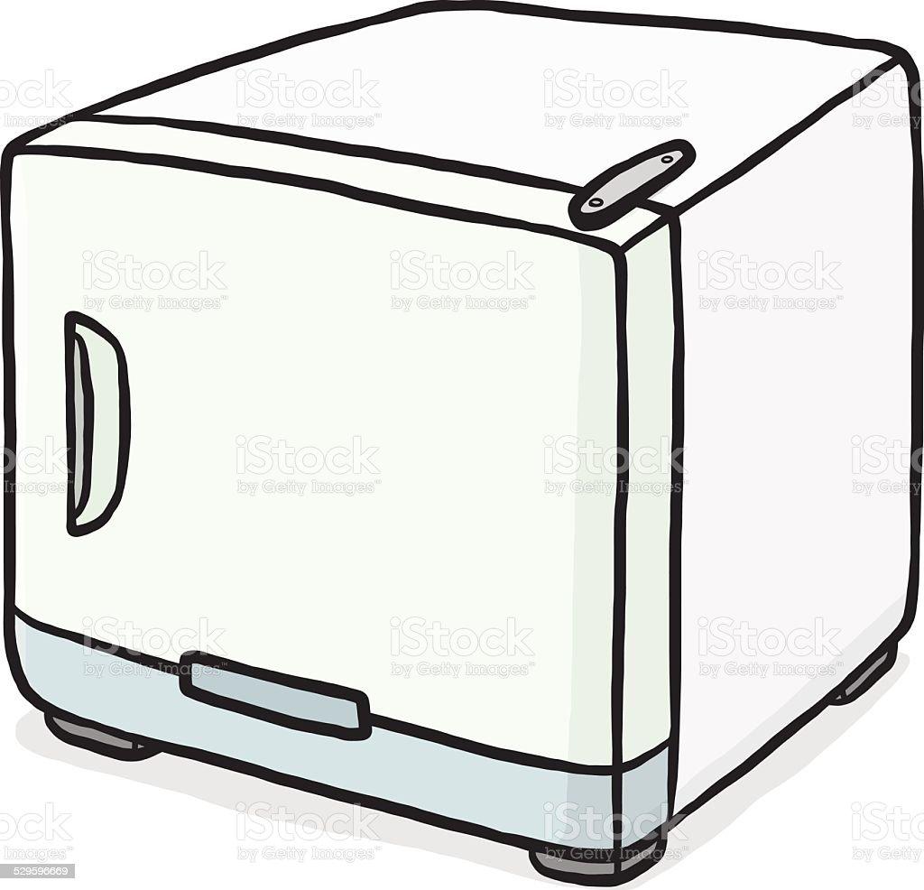 royalty free mini fridge clip art vector images illustrations rh istockphoto com fridge clipart black and white fridge clipart black and white