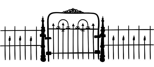 Small rough iron gate
