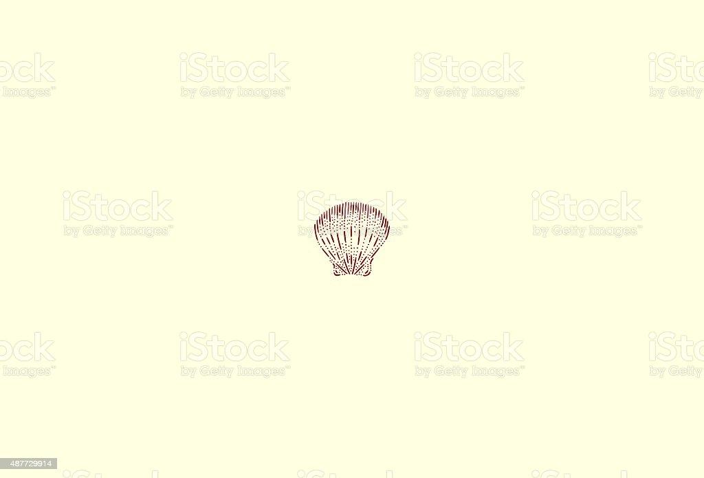 Small scallop vector art illustration