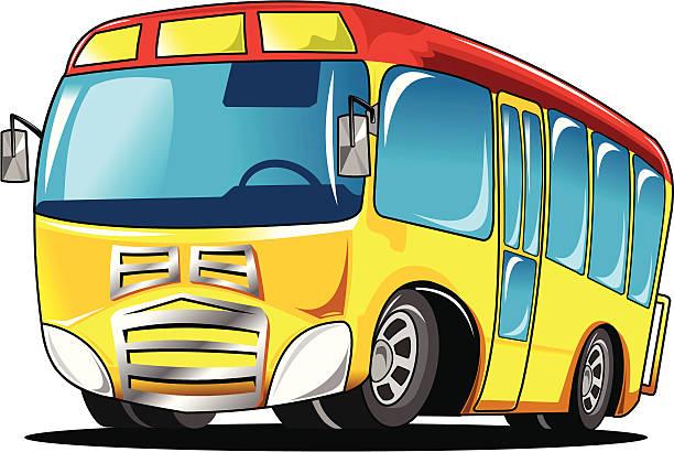 mały autobus szkolny - back to school stock illustrations