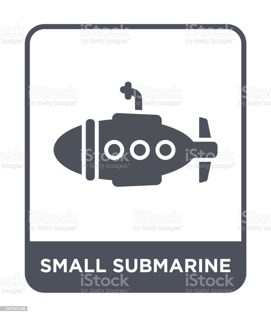 Small Submarine Icon Vector On White Background Small