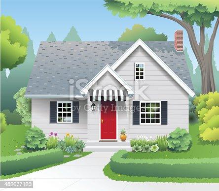 petite maison de banlieue cliparts vectoriels et plus d 39 images de arbre 482677123 istock. Black Bedroom Furniture Sets. Home Design Ideas