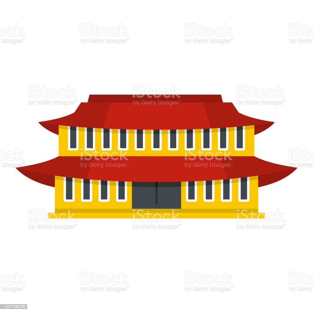 Small temple icon, flat style vector art illustration