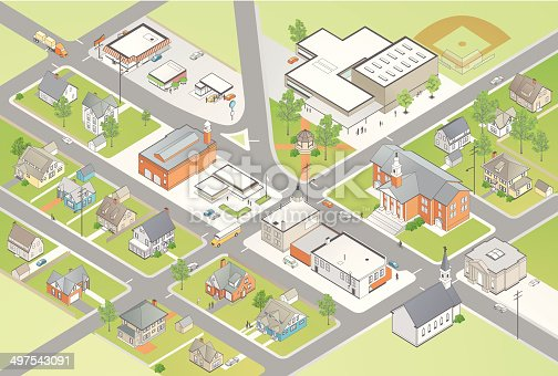 Detailed isometric town includes school, town hall, main street businesses, and unique homes. People and vehicles also included.  › [url=http://www.istockphoto.com/search/lightbox/11669331#8f71a4f]See more from this artist.[/url]  More from mathisworks:  [url=http://www.istockphoto.com/file-closeup/index/stock-illustration-29827878-residential-district.php][img]http://i.istockimg.com/file_thumbview_approve/29827878/2/stock-illustration-29827878-residential-district.jpg[/img][/url]  [url=http://www.istockphoto.com/file-closeup/index/stock-illustration-26596852-isometric-city.php][img]http://i.istockimg.com/file_thumbview_approve/26596852/2/stock-illustration-26596852-isometric-city.jpg[/img][/url]