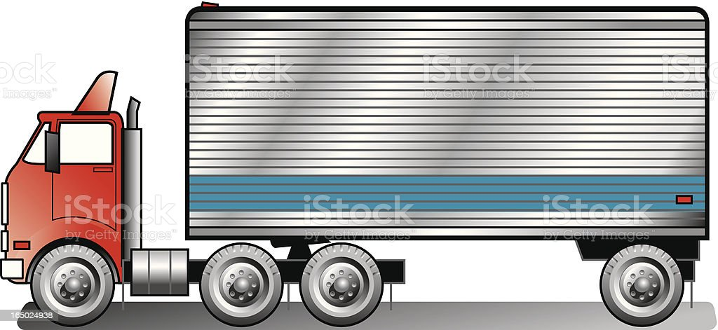 Small tractor trailer royalty-free stock vector art