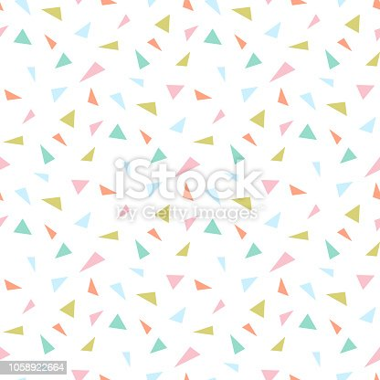 istock Small triangle seamless pattern. Abstract triangle geometric background.  Vector illustration 1058922664