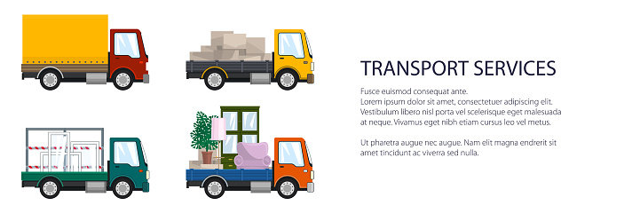 Small trucks with different loads
