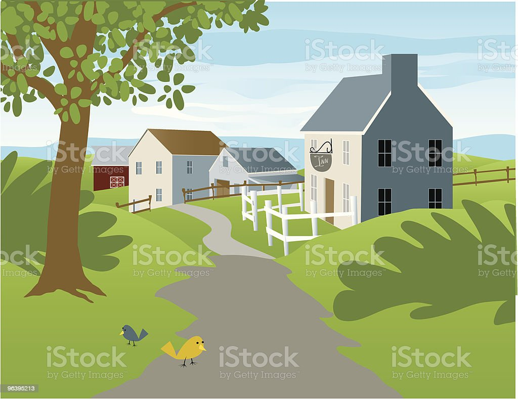 Small Village - Royalty-free Agricultural Field stock vector