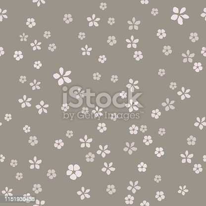 Jewelry and  floral vector seamless pattern. Template for design, textile, wallpaper, print, carton, banner, ceramic tile, card.